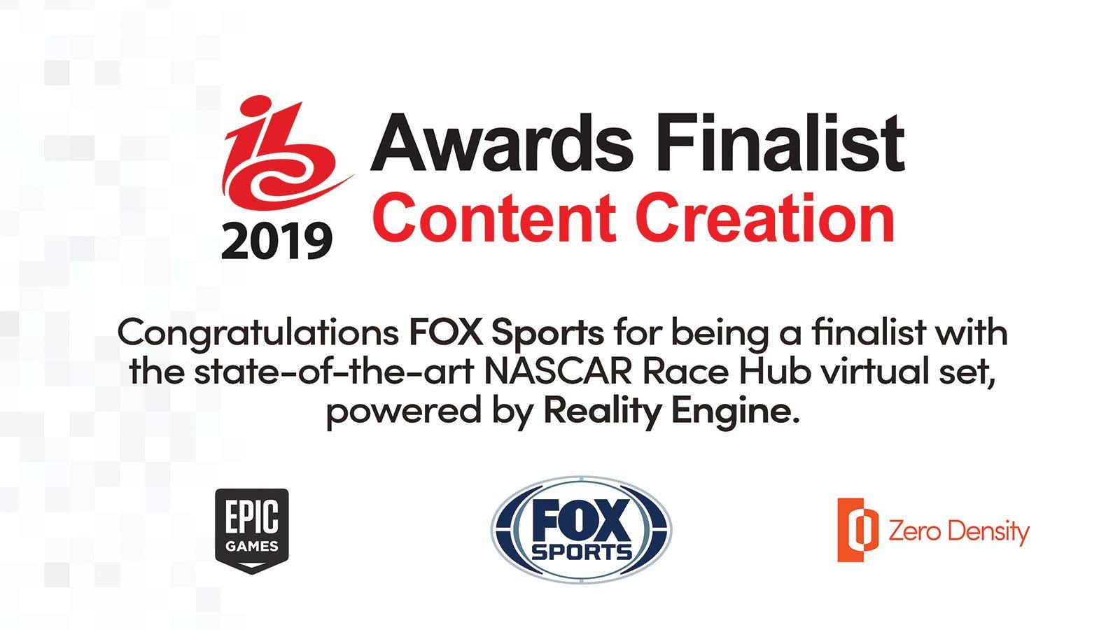ibc awards finalist fox sports zero density