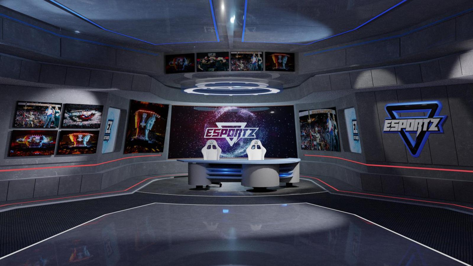 Esportz Network 3D virtual set