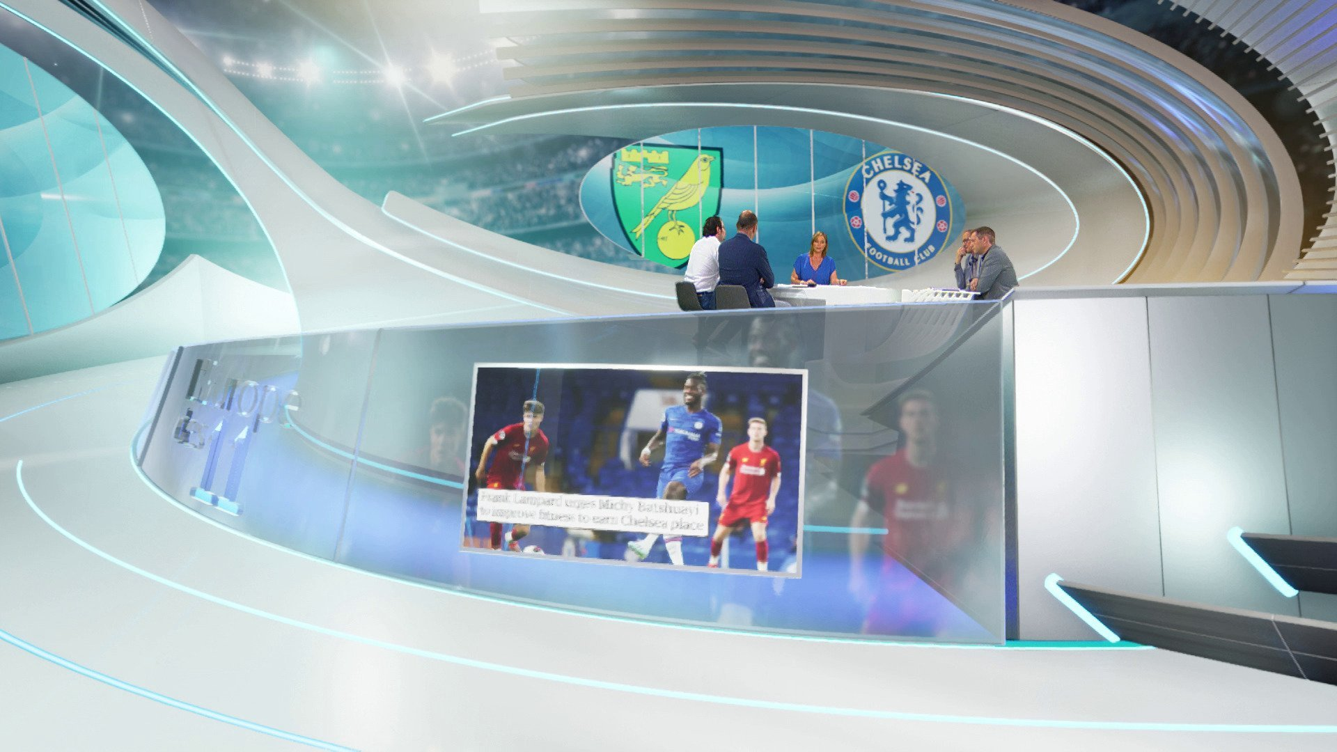 DreamWall delivers photorealistic virtual set for BeTV - composited image